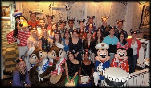 Mickey and friends hold a celebratory meeting for those who needed to receive our Ears!